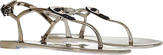 Karl Lagerfeld Sandals - Jelly II Ikonic Sling Dark Metal Rubber - gold - Sandals for ladies