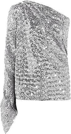 Roland Mouret Roland Mouret Woman Kara One-shoulder Sequined Stretch-knit Top Silver Size 8