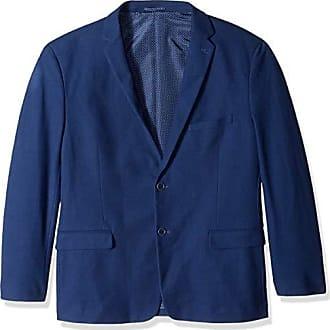 U.S.Polo Association Mens Big and Tall Cotton Blend Knit Sport Coat, Indigo, 52 Long