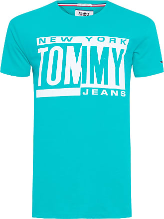 Tommy Jeans T-SHIRT MASCULINA BOX LOGO TEE - VERDE