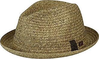 572634ae1e831b Bailey Mens Frankie Braided Fedora Trilny Hat, Dark Natural, XL