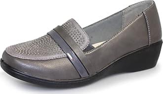 dbddf759c81 Lunar Womens Esther Wedge Loafer Shoe 6 UK Grey