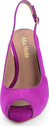 Alba Moda Sandalette Alba Moda, Damen, aus Ziegenveloursleder, lila