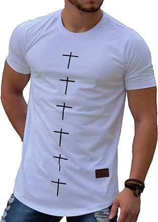 Kennel & Schmenger Camiseta Oversized Longline Blusa Cruz Camisa Masculina Swag KS