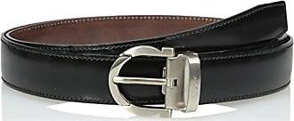 Salvatore Ferragamo Mens 671043 Reversible Belt, Nero/Auburn, One Size