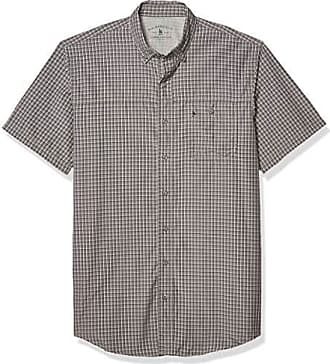 G.H Bass /& Co Mens Explorer Short Sleeve Fishing Shirt Plaid Button Pocket