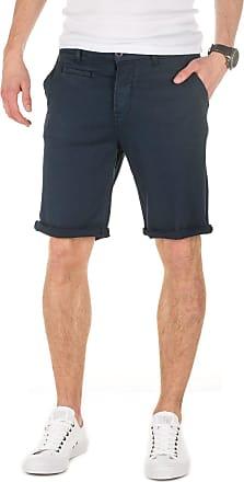 Yazubi Mens Summer Chino Shorts Slim Travis Casual Cotton Plain Pants Cobalt Midnight Aqua, Blue (Navy 3001), W29
