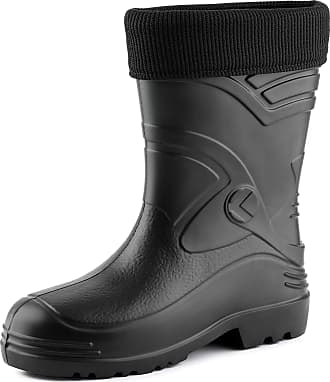 Ladeheid Mens EVA Extra Light Wellington Boots Rainy Wellies Rain Boots KL034 (Black, 11.5 UK)