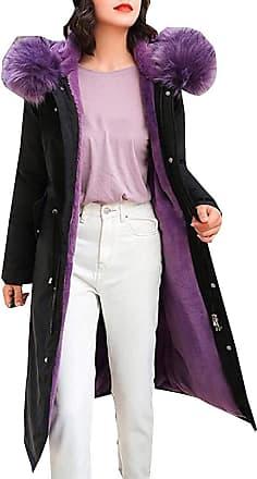 VITryst Fashion Womens Long Down Coat with Fur Hood Maxi Down Parka Puffer Jacket,3,X-Large