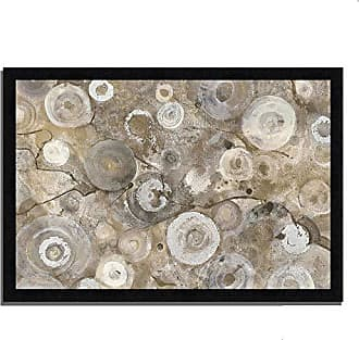 Tangletown Fine Art Neutral Agate Framed Art, Gray/White/Painting/Print/Abstract/Circles