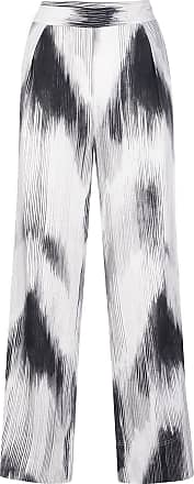 Natori Calça cintura alta com estampa abstrata - Cinza