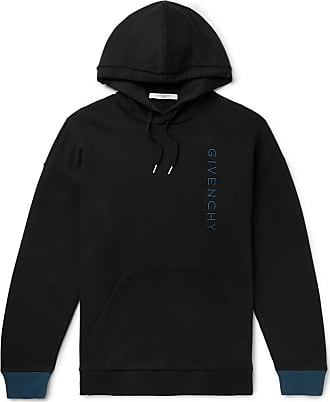 Givenchy Logo-embroidered Loopback Cotton-jersey Hoodie - Black