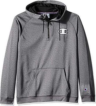 155508505e9d Champion Mens Graphic Tech Fleece 1 4 Hood Zip