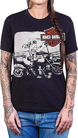 Bandalheira Camiseta Homer Davidson (Harley Davidson) Reforço de Ombro a Ombro