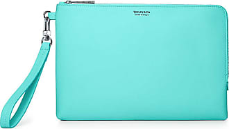 6185041cde1 Tiffany   Co. Zip clutch in Tiffany Blue grain calfskin leather