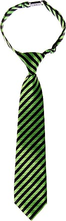 Retreez Striped Woven Pre-tied Boys Tie - Green and Black Stripe - 6-18 months