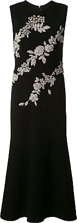 Oscar De La Renta crystal-embellished fitted dress - Black