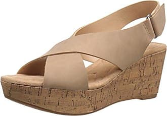 Chinese Laundry Womens Dream Girl Wedge Pump Sandal, Nude Nubuck, 7.5 M US