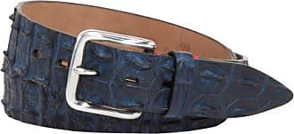 Fausto Colato Krokodilleder-Gürtel (Blau) - Herren