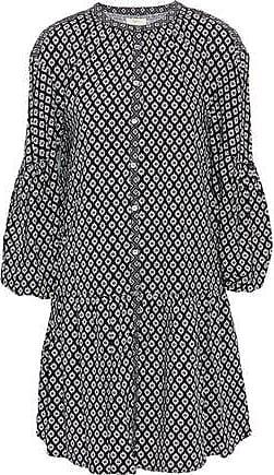 Joie Joie Woman Hagi Floral-print Poplin Mini Dress Black Size XXS
