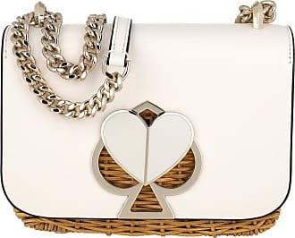Kate Spade New York Nicola Wicker Twistlock Convertible Chain Shoulder Bag Optic White Umhängetasche weiß