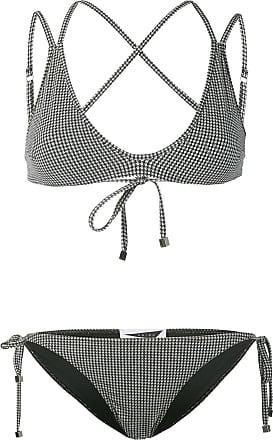 1d248feca9343 Prism Patmos micro houndstooth bikini set - Black
