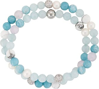 Nialaya beaded double-strand bracelet - Blue