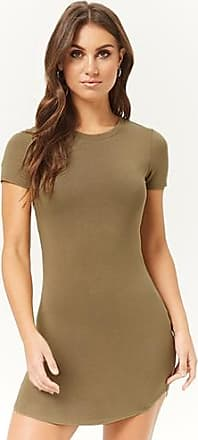 Forever 21 Forever 21 Bodycon T-Shirt Dress Olive
