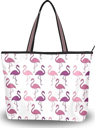 Lorona Women Flamingos Flamenco Summer Pattern Canvas Shoulder Hand Bag Large Capacity Tote Bag