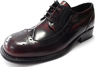 Ikon Mens Retro Krombie Brogues Shoes (10, oxblood)