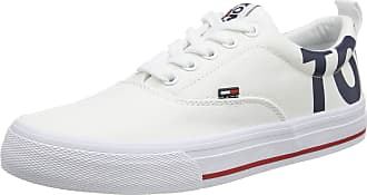 Tommy Jeans Womens Wmn Logo Low-Top Sneaker, White (White 100) 6.5 UK