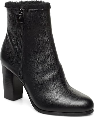 Michael Kors Frenchie Bootie Shoes Boots Ankle Boots Ankle Boots With Heel Svart Michael Kors Shoes