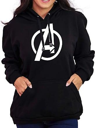 Atelier do Silk Agasalho Flanelado Capuz Unissex Avengers Os Vingadores Cor:Preto;Tamanho:GG