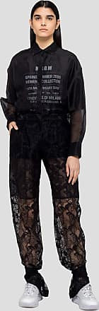 Msgm lace pants with bottom button