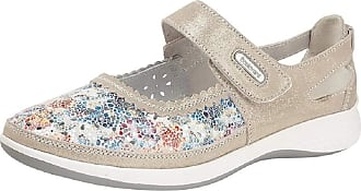 Boulevard Ladies Womens Extra Wide Fit EEE Comfy Casual Floral Shoes (5 UK, Grey)