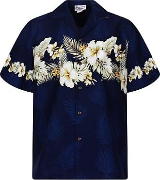 fb6320de3 Pacific Legend Lapa PLA Original Hawaiian Shirt Chest pressure Flowers,  blue, 4XL