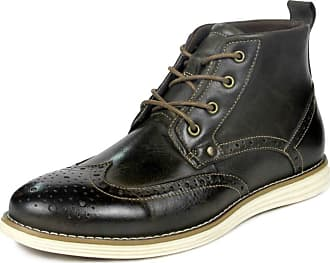 MGM-Joymod Mens Classic Lace-up Casual Vintage Brogue Wingtip Chukka Martin Ankle Boots (Coffee) 8 M UK