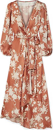 Johanna Ortiz The Greatest Land Printed Crepon Wrap Dress - Light brown
