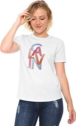 Calvin Klein Jeans Camiseta Calvin Klein Jeans Estampada Branca 7bc716d37e4