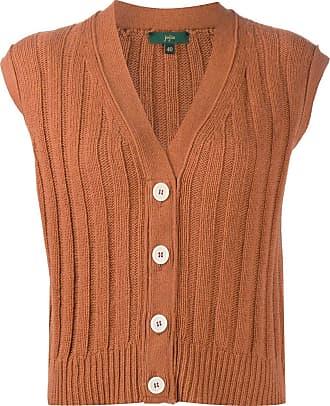 JEJIA ribbed knit top - Marrom