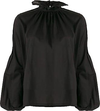 WANDERING Blusa com babados na gola - Preto