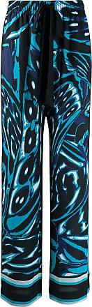 Diane Von Fürstenberg Calça assimétrica com estampa geométrica - Azul