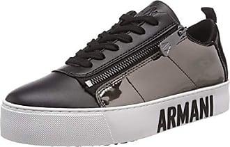 Armani Mirror Lace Up Snealer Scarpe da Ginnastica Basse Donna 209a999d23e