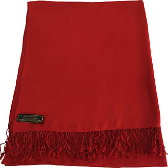 CJ Apparel Red Nepalese Solid Colour Design Shawl Scarf Wrap Stole Throw Pashmina CJ Apparel NEW