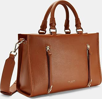 Ted Baker Double Zip Small Tote Bag in Brown HANEE, Womens Accessories