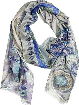 P-Modekontor Dames Sjaals in Zijde (Blauw)