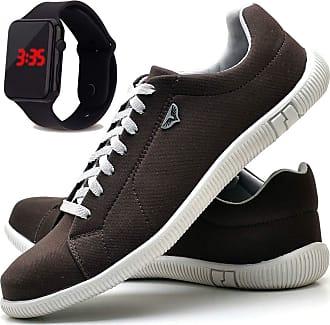 Juilli Sapatênis Sapato Casual Com Relógio LED Masculino JUILLI 900DB Tamanho:43;cor:Marrom;gênero:Masculino