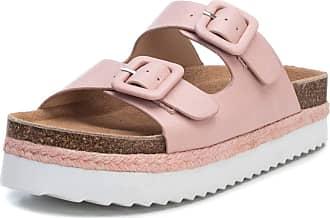 Refresh 69643 Womens Sandals Platform Double Buckle Pink Size: 6 UK