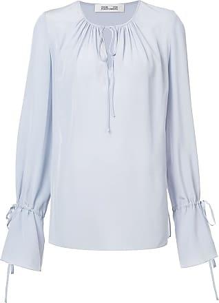 Diane Von Fürstenberg blouse à encolure et poignets à lien de resserrage -  Gris a8b6c255e18