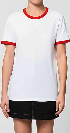 Made in Bio Tee Shirt coton bio femme blanc/rouge vif XXS - Hirifa